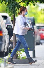 JULIANNE MOORE Wearing Mask Out in New York 05/20/2020