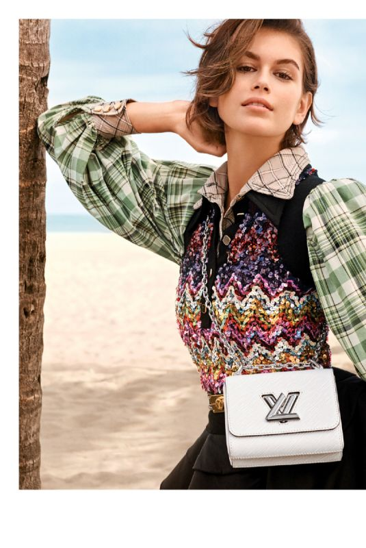 KAIA GERBER for Louis Vuitton Twist Bags for Spring 2020 Campaign