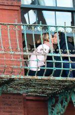 KARLIE KLOSS and Joshua Kushner Kissing on Their Balcony in New York 05/14/2020