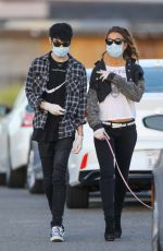 KATE BECKINSALE and Goody Grace Out with Their Dog in Malibu 05/15/2020