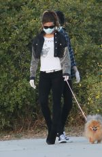 KATE BECKINSALE Out with Her Dog in Malibu 05/15/2020