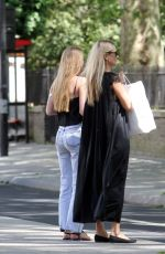 KATE MOSS Out with Her Daughter in London 05/28/2020