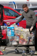 KATIE PRICE and Al Warrell Out Shopping in Surrey 04/27/2020