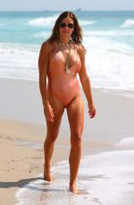 KELLY BENSIMON in Swimsuit Out on the Beach in Miami 05/26/2020