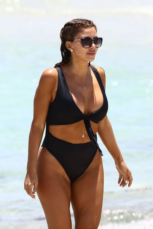LARSA PIPPEN in Bikini at a Beach in Miami 05/10/2020
