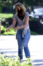 LAURA DERN in Ripped Denim Out in Pacific Palisades 05/15/2020