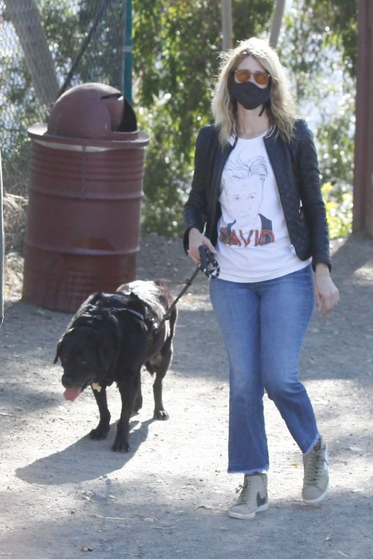 LAURA DERN Out with Her Dog in Los Angeles 05/13/2020
