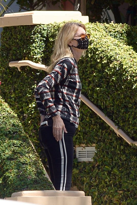 LAURA DERN Wearing Mask Out in Los Angeles 05/13/2020