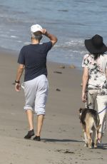 LIBERT RISS and Jimmy Iovine Out with Their Dog on the Beach in Malibu 05/07/2020