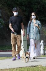 LILY COLLINS and Charlie McDowell Out with Her Dog in Los Angeles 05/11/2020