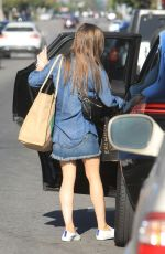 LILY COLLINS Out Shopping in Los Angeles 05/13/2020