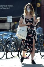 LILY JAMES Out Shopping in Primrose Hill 05/22/2020