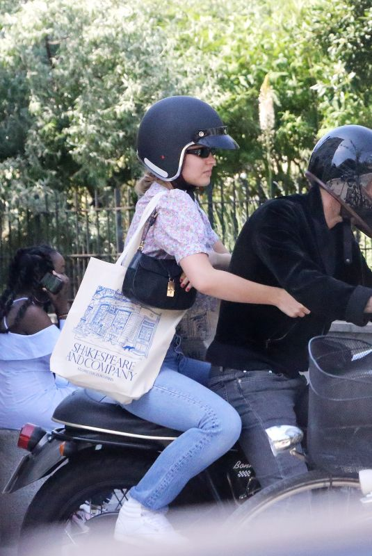 LILY-ROSE DEPP and Samuel Benchetrit Out Riding a Motorcycle in Paris 05/27/2020