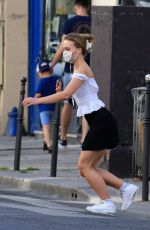 LILY-ROSE DEPP Wearing a Mask Out in Paris 05/20/2020