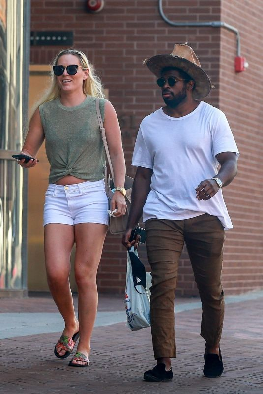 LINDSEY VONN and P.K. Subban Out in Los Angeles 05/27/2020