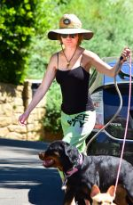 LISA RINNA Out with Her Dogs in Los Angeles 05/06/2020