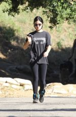 LUCY HALE in Leggings Out Hiking in Hollywood Hills 05/28/2020