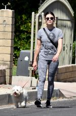 LUCY HALE Out with Elvis in Los Angeles 05/25/2020