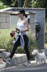 LUCY HALE Out with Elvis in Studio City 05/17/2020