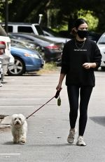 LUCY HALE Out with Her Dog in Studio City 05/29/2020