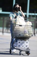 LUCY HALE Wearing a Mask at Gelsons in Los Angeles 05/24/2020