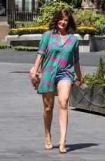 LUCY HOROBIN in Denim SHorts Leaves Global Studios in London 05/27/2020