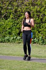 LYDIA CLYMA Out Jogging in London 05/08/2020