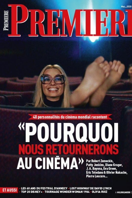 MARGOT ROBBIE on the Cover of Premiere Magazine, France May 2020