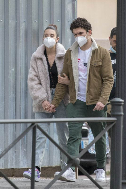 MARIA PEDRAZA and Jaime Lorente Wearing Masks Out in Madrid 05/18/2220
