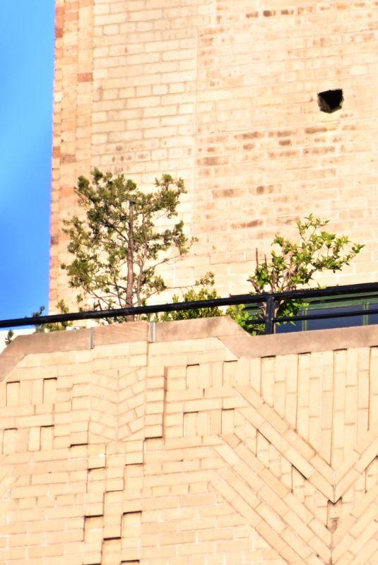 MARIAH CAREY on a Balcony in New York 05/04/2020