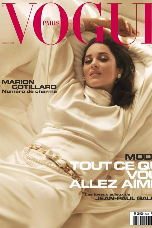 MARION COTILLARD in Vogue Magazine, France April 2020