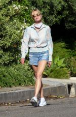 MELANIE GRIFFITH in Denim Shorts Out in Beverly Hills 05/22/2020