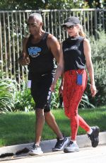 MELANIE GRIFFITH Out Jogging with a Friend in Beverly Hills 05/26/2020