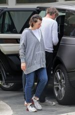 MILLA JOVOVICH Arrives at a Friends House in Los Angeles 05/12/2020