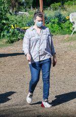 MILLA JOVOVICH Shopping at a Plant Nursery in Malibu 05/21/2020