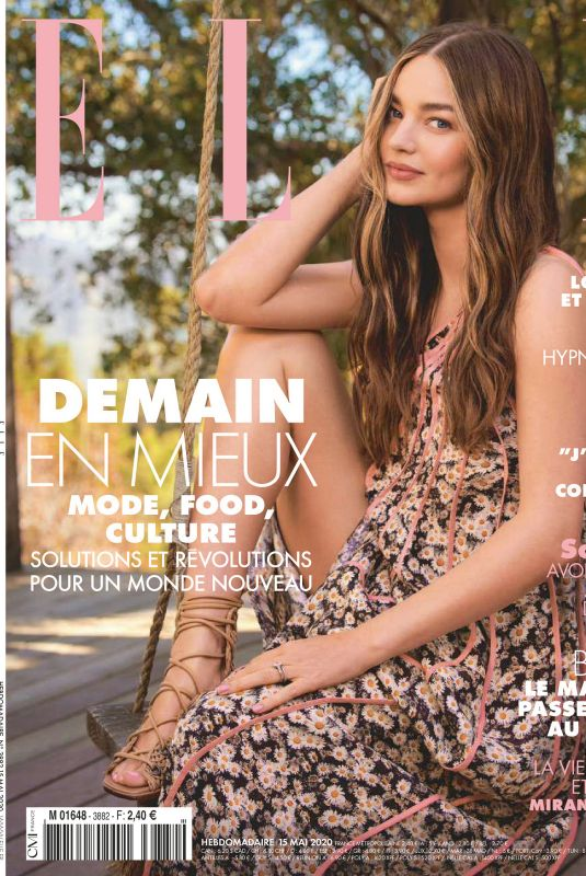 MIRANDA KERR in Elle Magazine, France May 2020