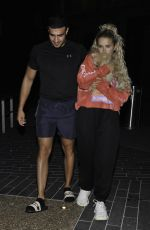 MOLLY MAE HAGUE and Tommy Fury Out with Their Dog in Manchester 05/28/2020