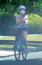 MOLLY SHANNON Out Riding a Bike in Santa Monica 05/17/2020