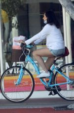 MOLLY SHANNON Out Riding a Bike in Santa Monica 05/21/2020