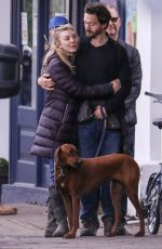 NATALIE DORMER and David Oakes Out with Their Dog in London 05/01/2020