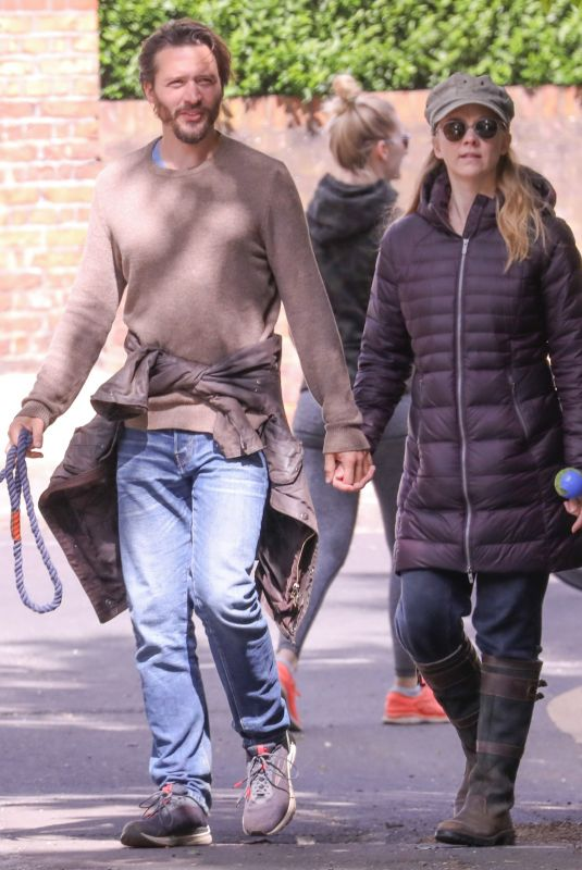 NATALIE DORMER and David Oakes Out with Their Dog in London 05/14/2020