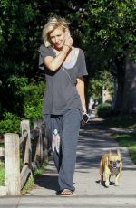 NICKY WHELAN Out with Her Dog in Sherman Oaks 05/13/2020