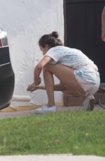 NINA DOBREV Paints Her House in Los Angeles 05/29/2020