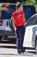 OLIVIA WILDE in a Fuzzy Slippers Out in Los Angeles 05/19/2020