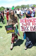 PARIS JACKSON at Black Lives Matter Rally in Los Angeles 05/30/2020