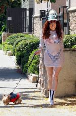 PHOEBE PRICE Posing with a Hillary Clinton Mask Out in Studio City 05/15/2020
