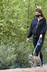 Pregnant KATHERINE SCHWARZENEGGER Out with Her Dog in West Hollywood 05/28/2020