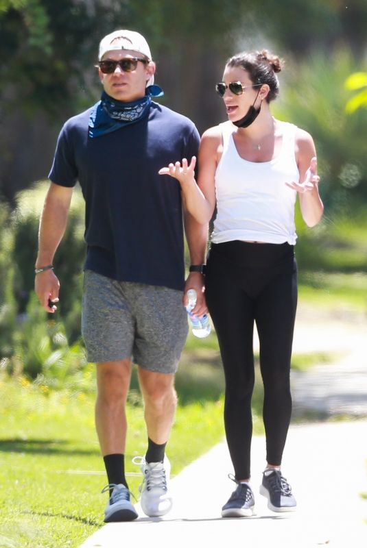 Pregnant LEA MICHELE and Zandy Reich Out in Santa Monica 05/04/2020