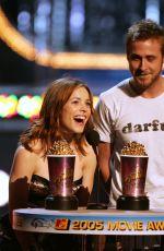 RACHEL MCADAMS and Ryan Gosling at MTV Movie Awards in Los Angeles 06/04/2005