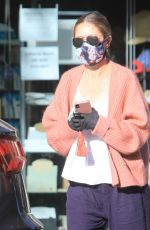 REBECCA GAYHEART Wearing Mask and Gloves Out in Bevery Hills 05/06/2020